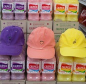 hat,fruits,purple,pink,yellow,peach,its so cute,bright,baseball cap,cap,summer,leather caps,frends caps,pink caps,cute caps,printed bucket hat,felt hat