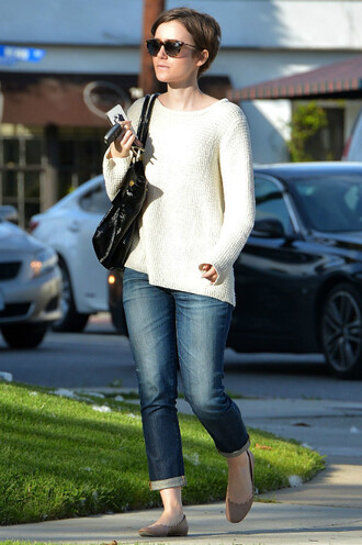 sweater jeans lily collins