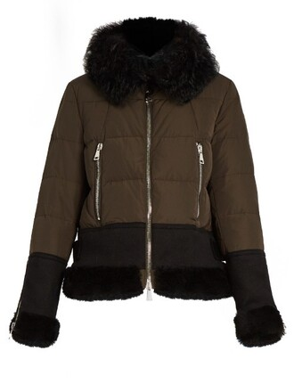 jacket down jacket fur water khaki
