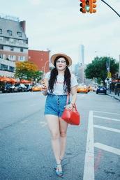 noelles favorite things,blogger,t-shirt,shorts,bag,hat,shoes