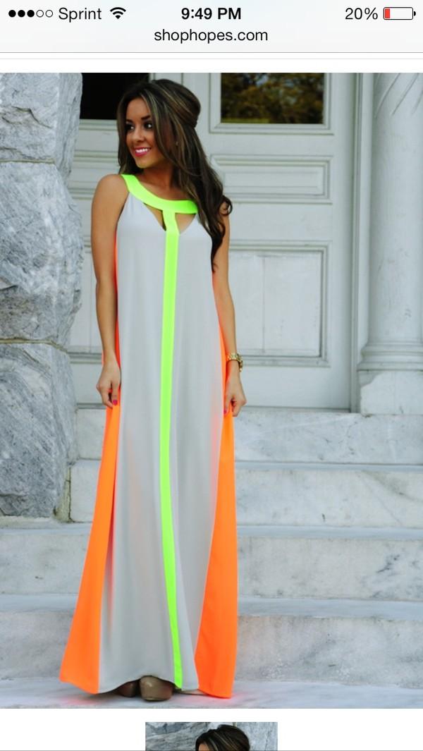 dress maxi neon perfect