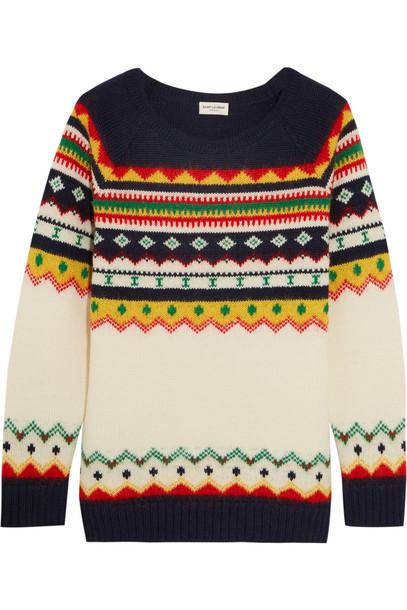 Saint Laurent sweater wool navy