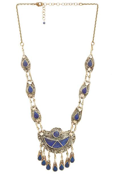 Natalie B Jewelry necklace metallic bronze