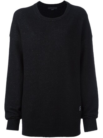 jumper embroidered women spandex black wool dollar sweater