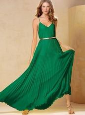 dress,emerald green,forest green