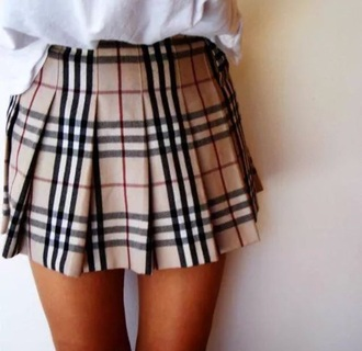 skirt burberry pattern burberry cute skirts cute high waisted skirt girly