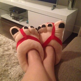 home accessory slippers fluffy warm winter outfits finger feet