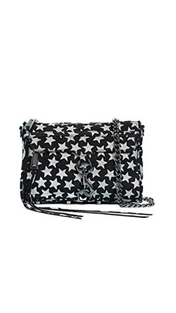 Rebecca Minkoff cross mini glitter bag black