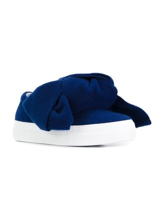 bow oversized sneakers blue shoes