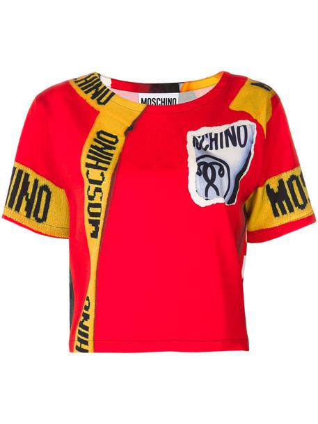 Moschino t-shirt shirt t-shirt women print wool red top