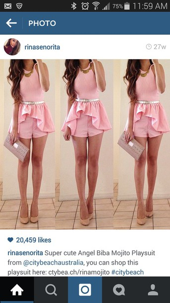 jumpsuit romper dress pin rinasenorita pink dress
