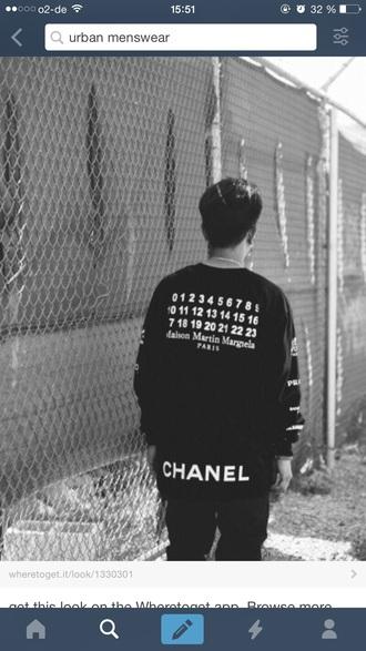 sweater black tumblr boy menswear fashion urban kpop kstyle streetwear