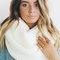 Chunky cream infinity scarf