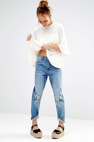 lefashion blogger top jeans