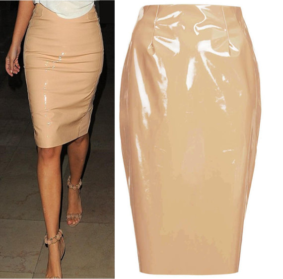 PVC Vinyl Pencil Skirt SALE Price 60 by TheFashionArtistUK