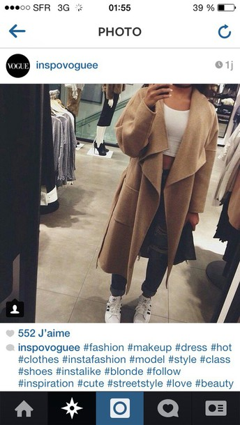coat nude winter coat