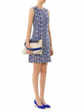 dress yvette long dress blue dress clare chain-strap shoulder bag bag suede point-toe pumps pumps babeth gold & silver tone ring ring blue shoes jewels