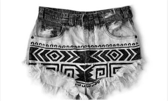 aztec short tribal shorts