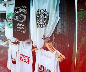t-shirt heinkein ect starbucks coffee jack daniel's obey tank top heineken barcode camera clothes black white tank top photography white shirt summer beautiful fashion creative blouse muscle tee 842988 graphic crop tops top jack daniels shirt