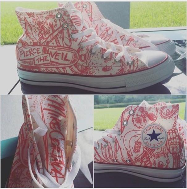 shoes misadventures pierce the veil converse high top converse