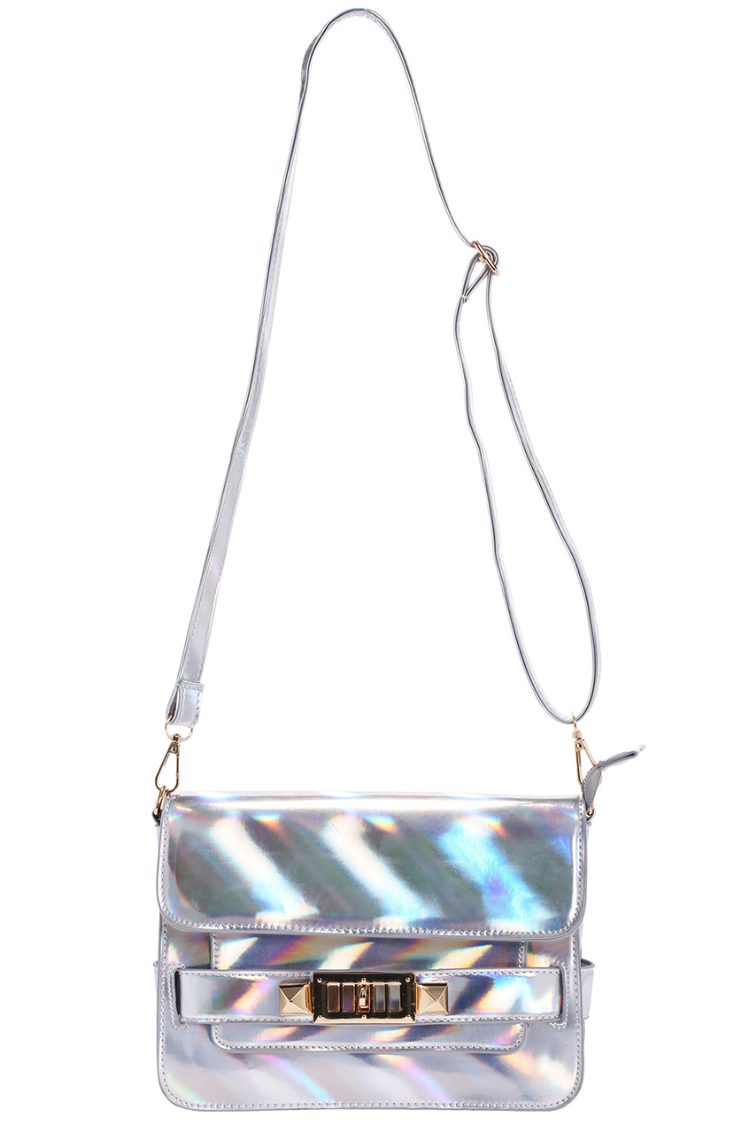ROMWE | ROMWE Awesome Hologram Faux Leather Bag, The Latest Street Fashion