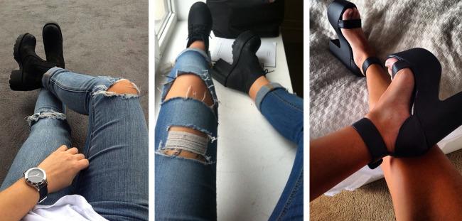 Block heel.