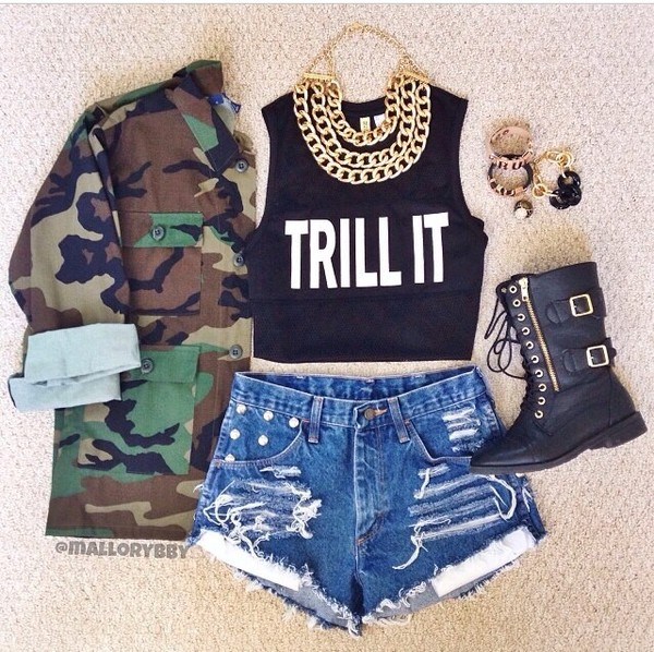 shirt trill jewels jacket shoes