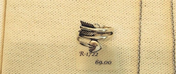jewels ring silver ring heart arrow ring