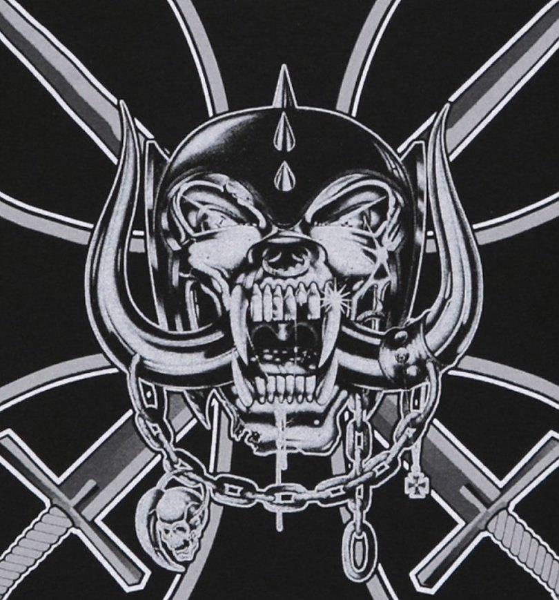 Men's Black Motorhead Iron Cross Long Sleeve T-Shirt : TruffleShuffle.com