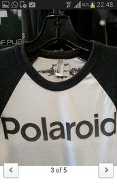 shirt,kristen stewart,polaroid camera,t-shirt