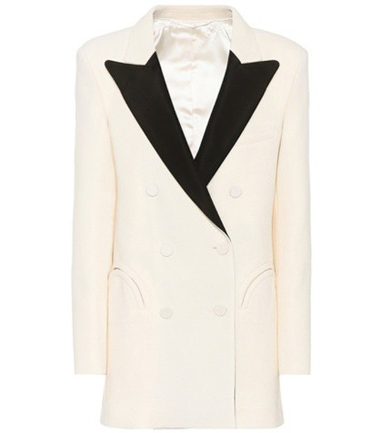 Blazé Milano Everyday wool crêpe blazer in white