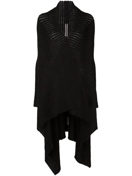 Rick Owens cardigan cardigan long women mohair black sweater