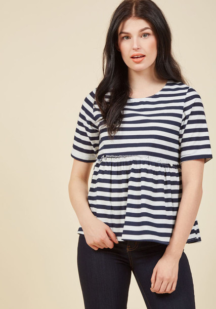 Sp17pic02 blouse top white top love stylish navy white blue