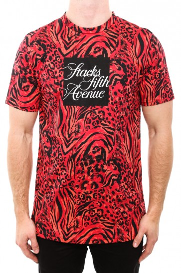 DOPE Stacks 5th Avenue Tee Red/animal | Culture Kings Online Store