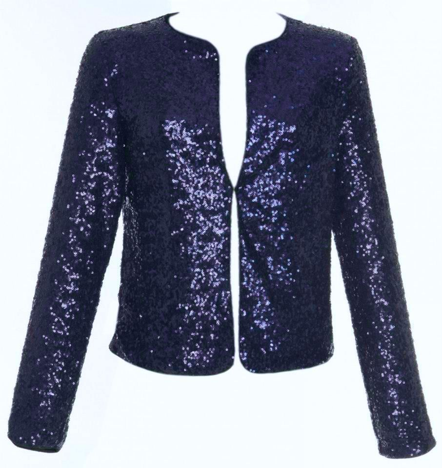 Sequin Jacket in Midnight Blue JUST REDUCED !! | eBay