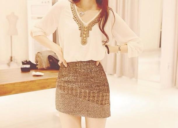 dress skirt t-shirt