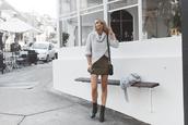 sbstnc,blogger,sweater,skirt,coat,shoes