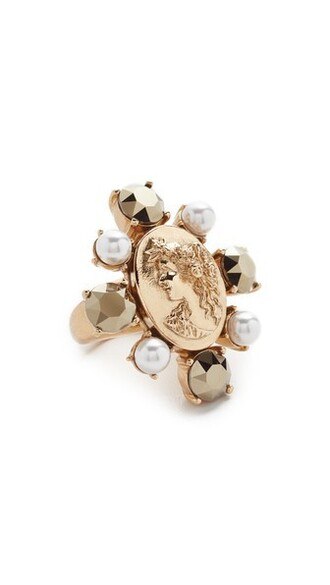cameo ring gold jewels