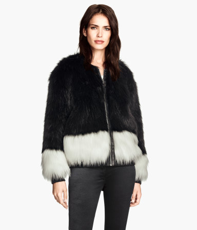 H&M Faux Fur Jacket $39.95