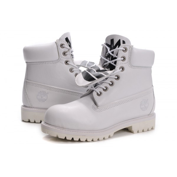 Cheap Timberland Women 6 Inch Boots White and Black
