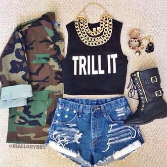 jacket camouflage camo jacket top shoes
