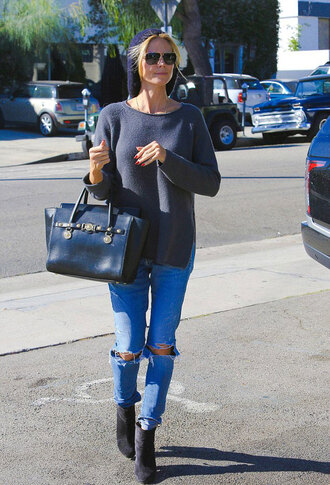 shoes jeans fall outfits bag sunglasses heidi klum