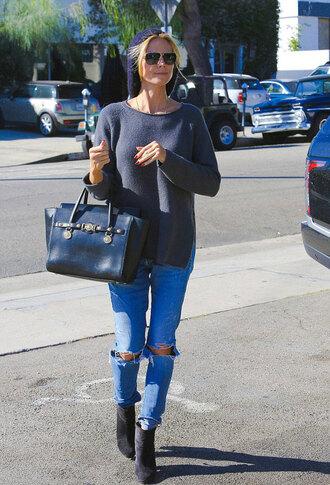 jeans heidi klum shoes bag sunglasses fall outfits