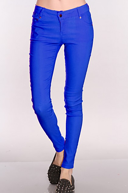 Blue Stretch Fit Skinny Jeans / Sexy Clubwear | Party Dresses ...
