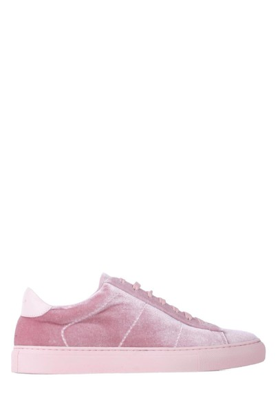 DONDUP sneakers leather velvet pink shoes