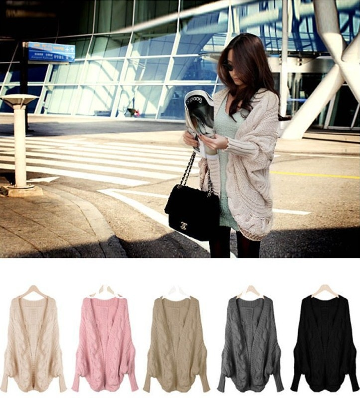 Oversized knit batwing sleeve cardigan from dazzled247 on storenvy