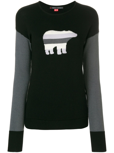 Perfect Moment sweater bear women black