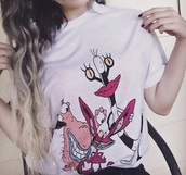 t-shirt,punk,ahh! real monsters,cartoon,punk rock,scene,hipster,white,90's shirt,grunge,soft grunge
