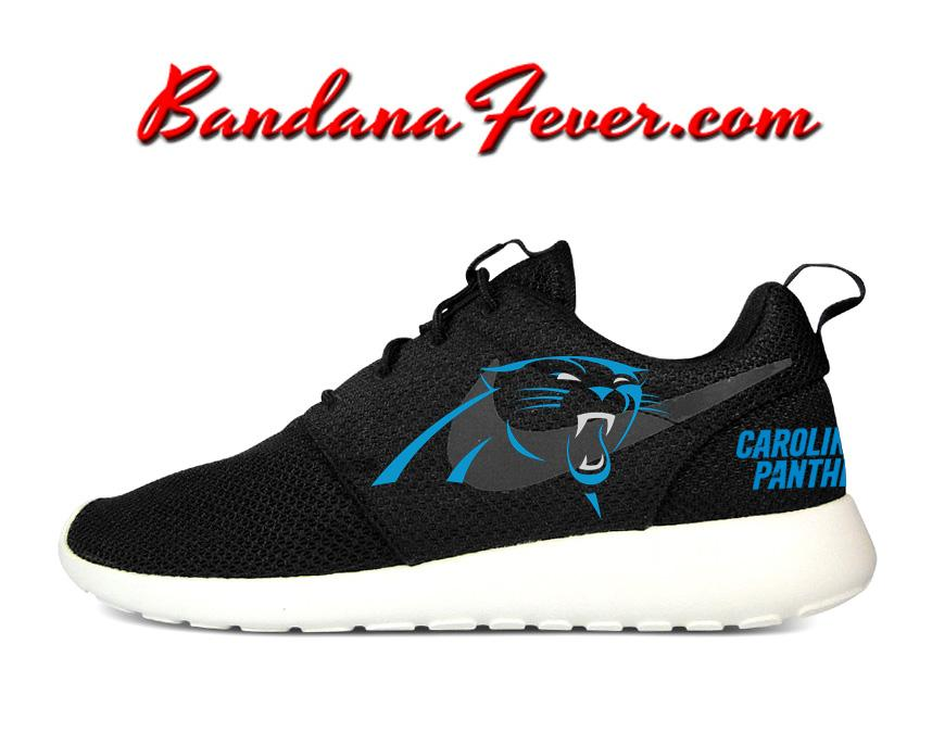 new product 77d7a 057ee Custom Panthers Nike Roshe Run Shoes Black, FREE SHIPPING ...