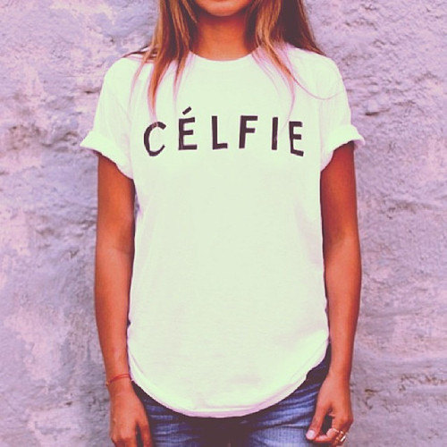 Celfie tshirt for women tshirts shirts shirt top by stupidfashion